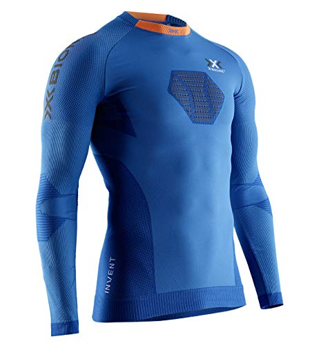 X-Bionic Invent 4.0 Running Long Sleeves Men T Shirt DE Course Manches Longues Homme, Teal Blue/Anthracite, FR : S (Taille Fabricant : S)