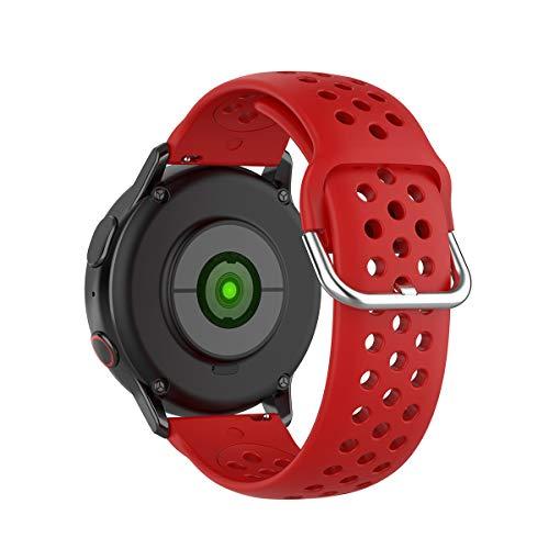 KOMI 20 mm/22 mm Silikon Schnellverschluss Armband, Damen und Herren Fitness Sport Ersatzband für Smartwatch