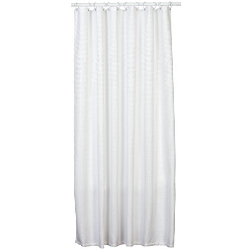 Zenna Home Hotel Waffle Weave Shower Curtain, White