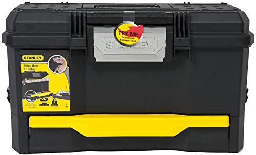 Stanley Werkzeugkiste leer aus Kunststoff 1-70-316 / Werkzeugkoffer mit integrierter Schublade für Kleinteile / Maße: 48.1 x 27.9 x 28.7 cm - 11