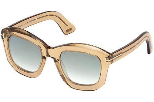 Tom Ford FT0582 Julia-02 zonnebril, bruin, transparant, met glazen, gradient bruin, spiegel, 45P TF582