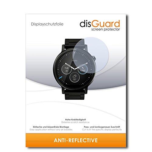 disGuard Displayschutzfolie für Motorola Moto 360 (2015) 46mm [3 Stück] Anti-Reflex, MATT, Entspiegelnd, Extrem Kratzfest, Anti-Fingerabdruck - Displayschutz, Schutzfolie, Panzerfolie
