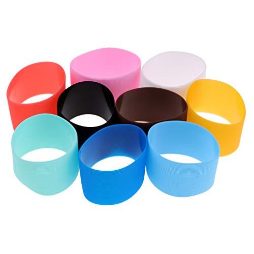 Toygogo - 9 Fundas Protectoras de Silicona para Botella de Agua con 6,4 – 7 cm de diámetro, para Viajes, Camping, Senderismo, Ciclismo, mochileros, Deportes al Aire Libre
