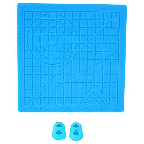 Jinyi Alfombrilla de diseño de Silicona para bolígrafo de impresión 3D, Alfombrilla de bolígrafo de impresión 3D Plegable, Flexible, Duradera con Plantillas básicas Tapas de Dedos para Impresora