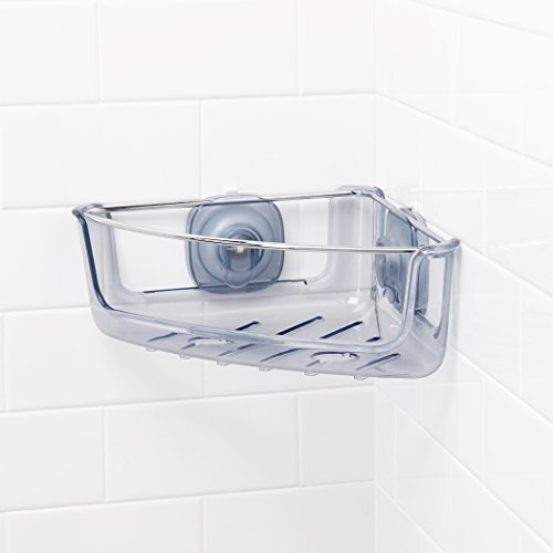 Oxo Secures to Walls Using Sturdy, Phthalate-Free Stronghold Suction Cups Bathroom Accessories, Corner, Transparent