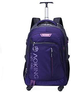 Pull-Rod Schoolbag Body Fashion Canvas Waterproof Luggage Bag Short-Distance Hand-Push Universal Wheel Backpack