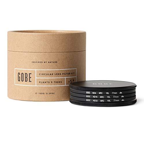 Gobe - Kit Filtro ND 77mm MRC 16-Capas: ND4, ND16, ND32
