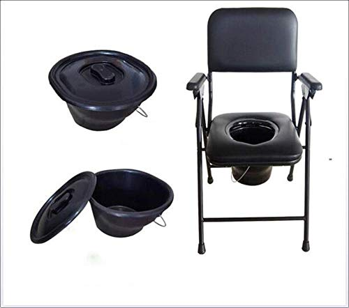 SuRose Nachttischkommode Stuhl Multifunktionaler Faltbarer Soft Seat Nachttischkommoden Medizinischer Stuhl Komplette medizinische medizinische Hilfe Ältere und Handicap Rehab Chair