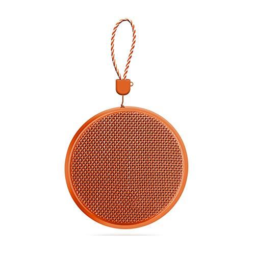 Sebasty Altavoz Bluetooth inalámbrico naranja deportes al aire libre mini subwoofer estéreo portátil