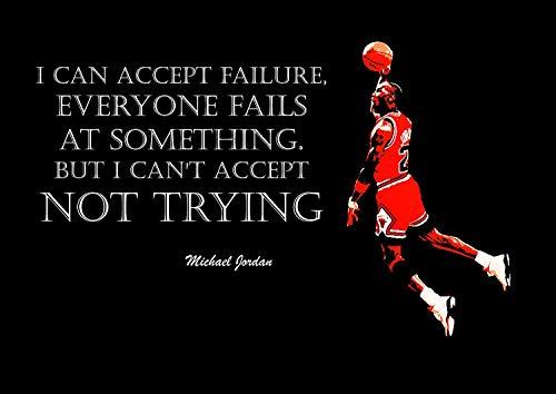 Michael Jordan 3# American Basketball Spieler NBA Sport Zitat Plakat Motivation Bild Inspiration Foto Zug Harte Schlafzimmer Grafik Wand Dekoration Nachdruck Grafik