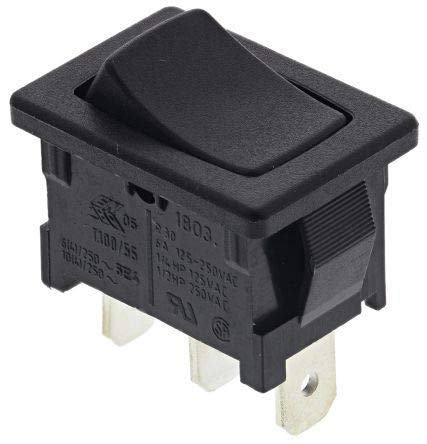 MARQUARDT - Interruptor basculante 1803.1102 250 V/AC 6 A 1 x On/On IP40 Permanente 1 ud.