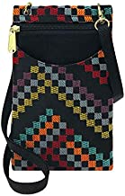 Danny K Women's Tapestry Crossbody Cell Phone or Passport Purse, Handmade in USA (Rustico)