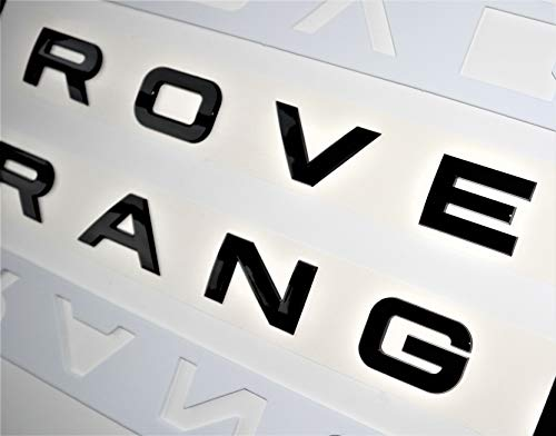 Juego de letras negras brillantes compatibles con Range Rover Sport, Voque, Velar, Evoque delantero o trasero