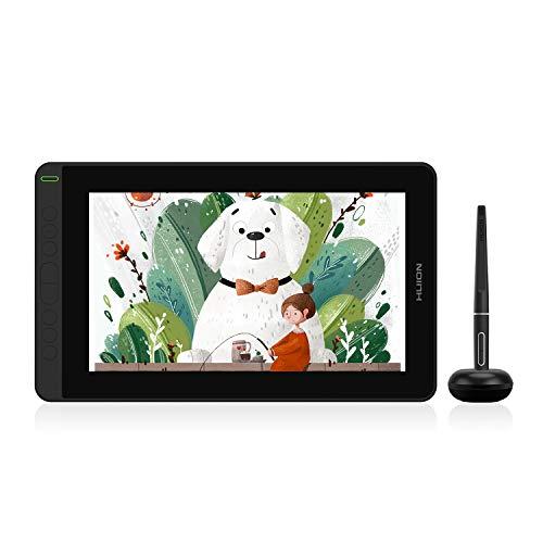 HUION Kamvas 12 Soporte para Android Tableta gráfica de Dibujo de 11.6 'con Pantalla con lápiz óptico sin batería (inclinación de ± 60 °) 8 Teclas Express con Soporte Ajustable