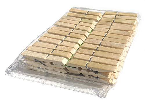 Lot de 50 pinces à linge en bambou