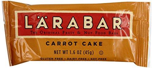 Larabar Gluten Free Bar, Carrot Cake, 1.6 oz Bars (16 Count), Whole Food Gluten Free Bars, Dairy Free Snacks