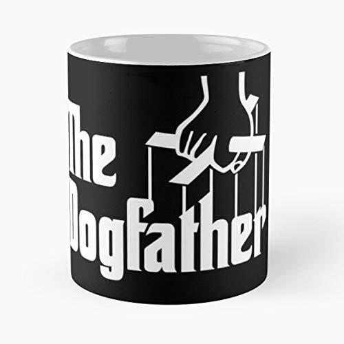 Taza de café de cerámica con texto en inglés 'Dogs Father Dad Dogpapa Dogpapa Dogfather Papa Eat Food Bite John Best de 315 ml