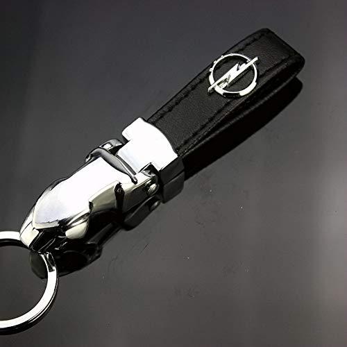 LWYLBP Keychain Schlüsselanhänger Ring Schlüsselanhänger, Metall Pu Schlüsselbund Schlüsselanhänger Schlüsselanhänger Für Opel Astra Insignia Mokka Corsa Zafira Auto Logo Auto Anhänger AUT