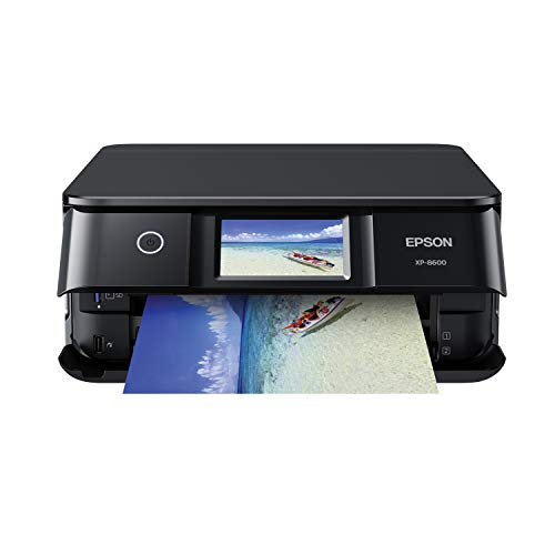 Epson Expression Photo XP-8600 Wireless Color Photo Printer with Scanner and Copier Black,Small
