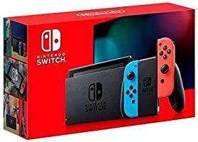 Nintendo - Version 2 Switch with Joy-Con - Version 2 - HAC-001(-01), Neon Red and Neon Blue
