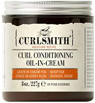 Curlsmith - Curl Conditioning Oil in Cream - Vegan Leave in Conditioner for Curly and Coily Hair (237ml)