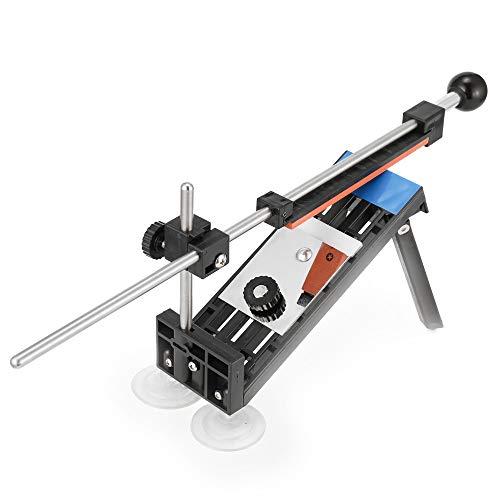 KKmoon Fix Fixed Angle Messerschärfer,Manuelle Messerschärfer Schleifer mit 4 Steinen(180#,400#,800#,1500 #)