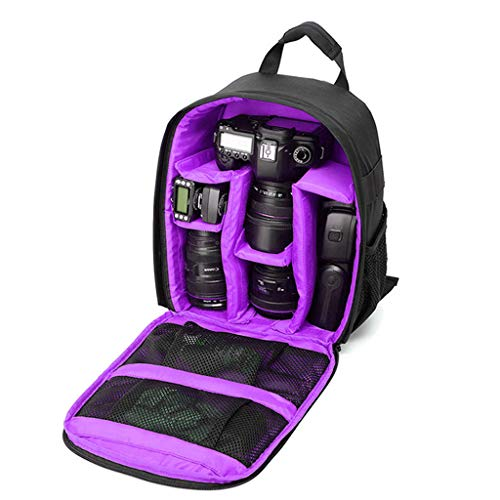 WDFVGEE impermeable a prueba de golpes cámara mochila para EOS DSLR/SLR cámara para accesorios de cámara deportiva