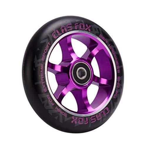 YMYGCC Ruedas De Scooter 2pcs 110mm Truco Scooter Ruedas de aleación Ruedas 794 (Color : Purple)