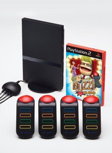 PlayStation 2 Konsole PS2 black inkl. Buzz & Buzzer