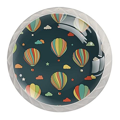 Globos de aire caliente, Moderno Minimalista Impresión Armario Manija de Cajón Manija de Armario Manija de Puerta de Cuatro Piezas Traje