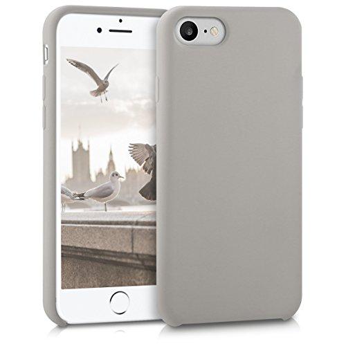 kwmobile Hülle kompatibel mit Apple iPhone 7/8 / SE (2020) - Hülle Silikon gummiert - Handyhülle - Handy Hülle in Taupe