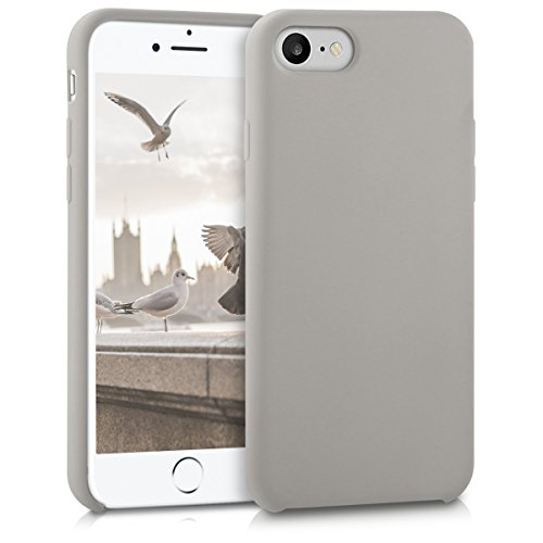 kwmobile Hülle kompatibel mit Apple iPhone 7/8 / SE (2020) - Handyhülle gummiert - Handy Case in Taupe