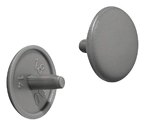 Gedotec Möbel-Abdeckkappen rund Schrauben-Kappen Kunststoff Verschluss-Stopfen dunkelgrau | H1115 | für Kopflochbohrung PZ2 | Ø 12 x 2,5 mm | 20 Stück
