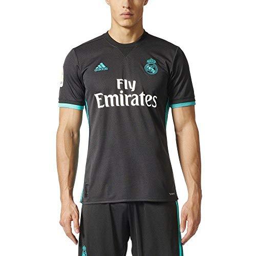 adidas Camiseta Real Madrid Temporada 2017/2018 2ª equipación, Hombre, Negro, XS