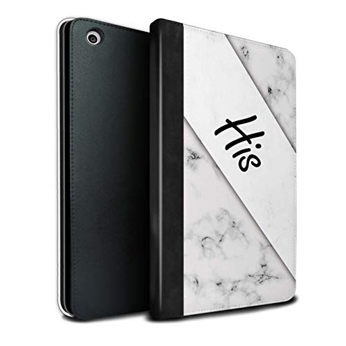 Stuff4 Tablet Case for Apple iPad Mini 1/2/3 You & Me Couples Marble/His/Left Flip Faux Book PU Leather Cover