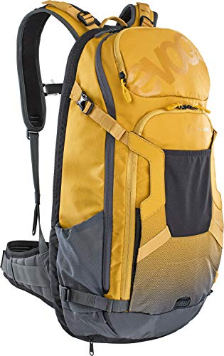 evoc Fr Trail E-ride Protector Backpacks, Lehm Gelb/Carbon Schwarz