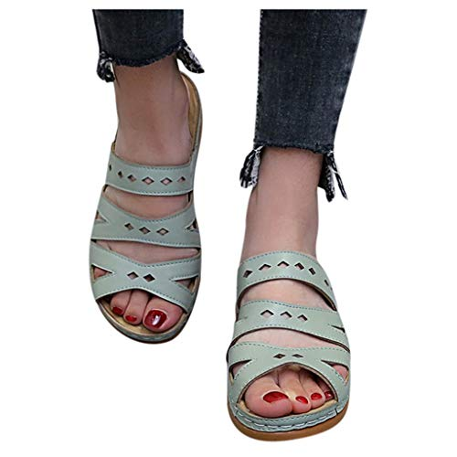 Review Of kaifongfu Women Girls Soft Slipper Shoes Comfortable Ankle Hollow Peep Toe Sandals Slides(...