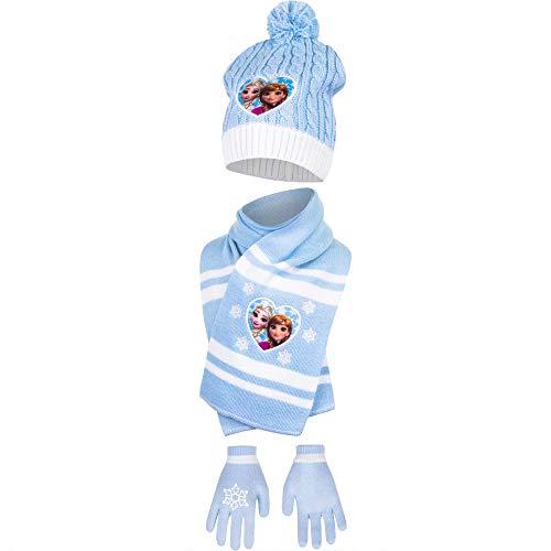 Disney Frozen Ragazze Cappello Sciarpa e Guanti 54-6/8 years