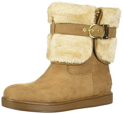 G By Guess Womens Aussie Closed Toe Ankle Cold Weather Boots, Tan, Size 5.0