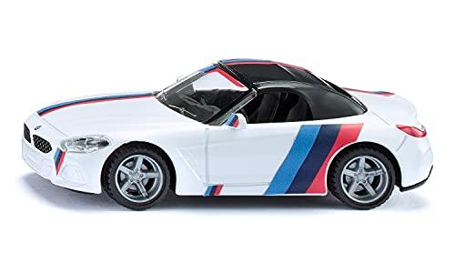 siku 2347, BMW Z4 M40i Auto giocattolo per bambini, 1:50, Metallo/Plastica, Bianco, Ruote rimovibili, Incl. foglio di adesivi con design M
