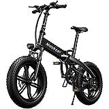 Mankeel Bicicletta elettrica pieghevole ad alta potenza 36v 500w adatta per neve, montagna e sabbia.