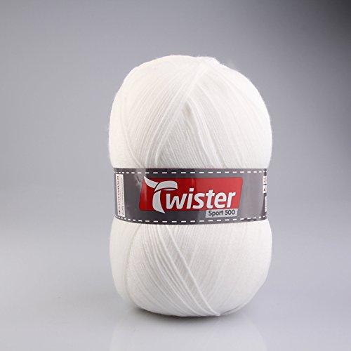 Kurtenbach Wolle Twister Sport 500 Uni - weiß - 500g