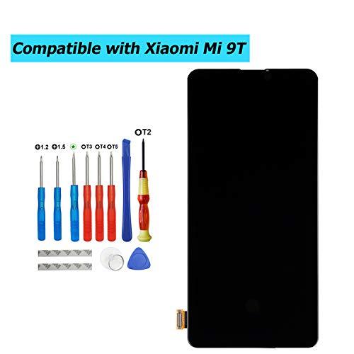 E-YIIVIIL - Pantalla de repuesto AMOLED compatible con Xiaomi Mi 9T/Mi 9T Pro/Redmi K20/ K20 Pro (negro sin marco), reparación de pantalla táctil LCD con kit de herramientas