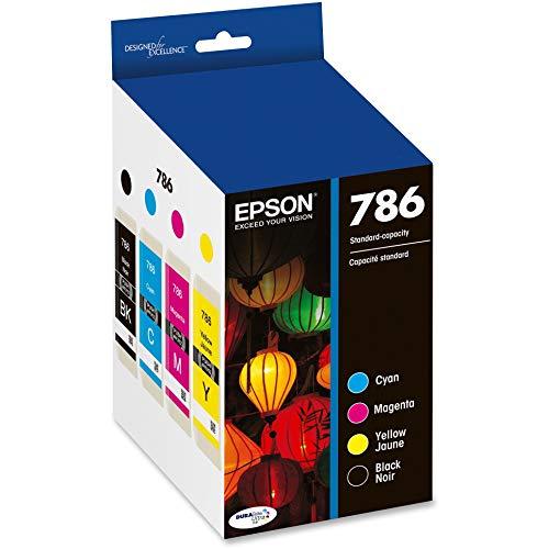Epson T786120-BCS DURABrite Ultra Black and Color Combo Pack Standard Capacity Cartridge Ink, Black, Cyan, Magenta, Yellow
