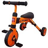 折りたたみ三輪車 ポータブル トライク オレンジ