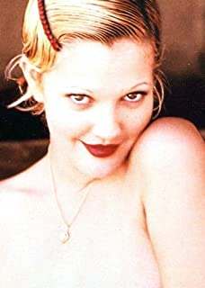 Color Photo Sexy Nude Film Star Drew Barrymore