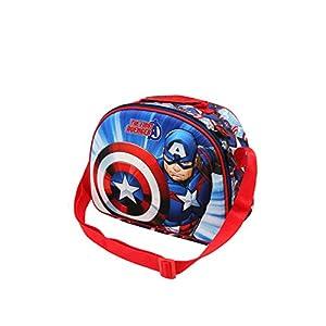 Karactermania Capitán América First – Bolsa Portameriendas 3D, Multicolor, Un tamaño