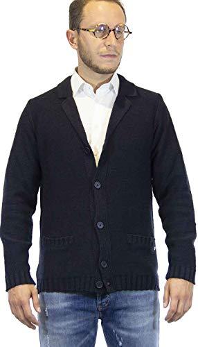 Cardigan Uomo Gaudì Jeans a Giacca in Lana Blu. 921BU53055 Taglia EU/IT S