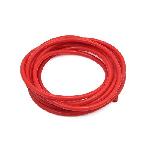 sourcing map 4m longueur 3 x 7mm rouge silicone résistante à chaleur, flexible aspiration Tuyau tube pour voiture
