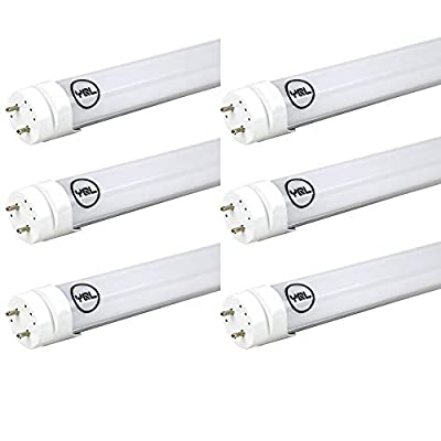 YQL F40T12 T10 T8 Led Tube Bulb Light 4ft 48in 22W(40W-50W Equivalent) 6500K White Dual-End Powered Ballast Bypass Replacement for Flourescent Tubes Garage Warehouse Factory Shop Light